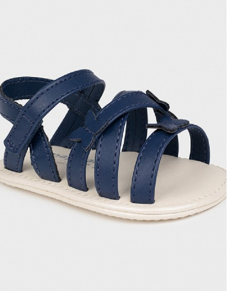 Navy Butterfly Sandals