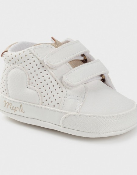 White Velcro Sporty Trainers