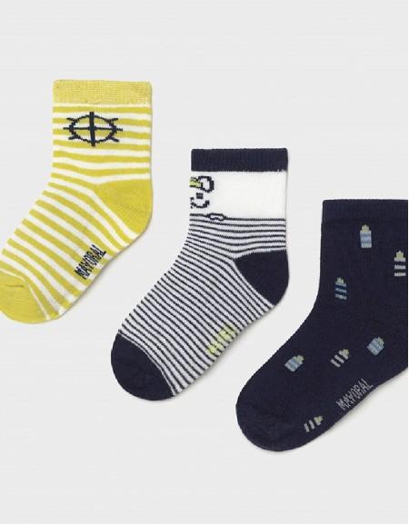 Lime Set Of 3 Fantasy Socks