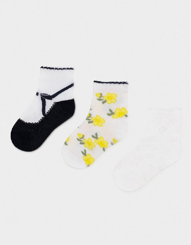 Navy Set Of 3 Socks