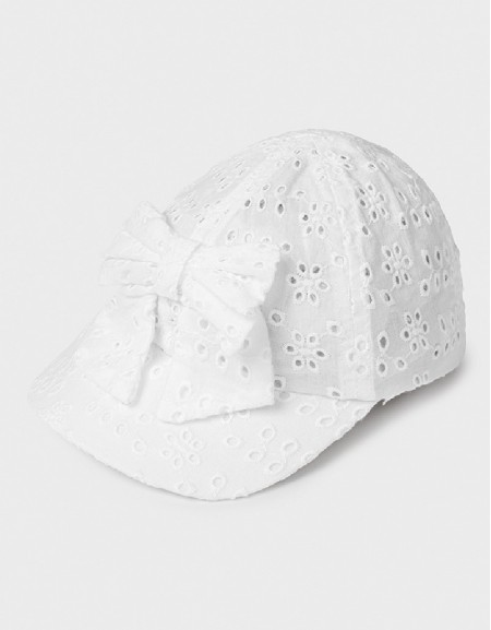 White Perforated Cap