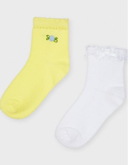 Yellow Set Of 2 Socks