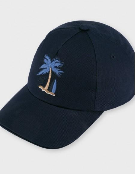 Navy Palm Cap