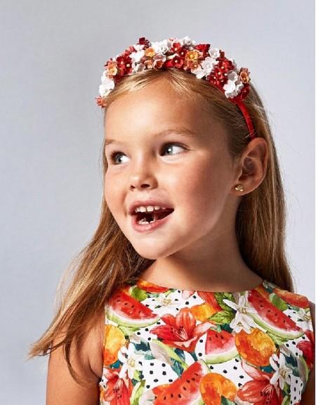 Persimmon Flowers Headband