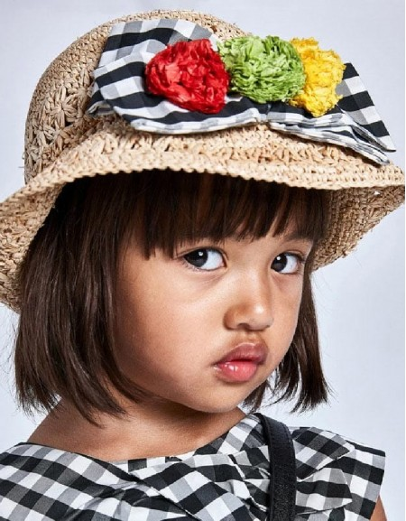 Black Black Flower Hat