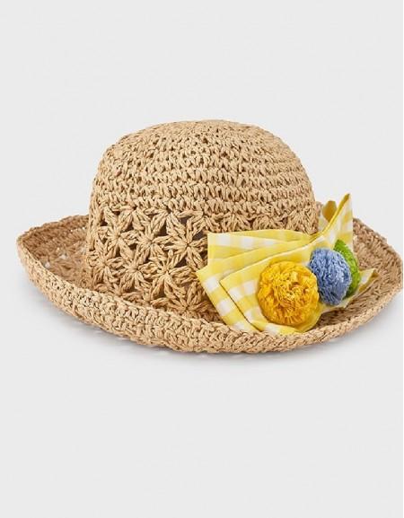 Yellow Black Flower Hat