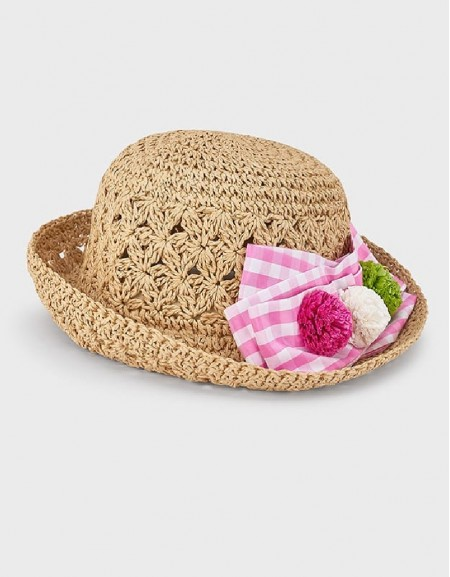Camellia Black Flower Hat