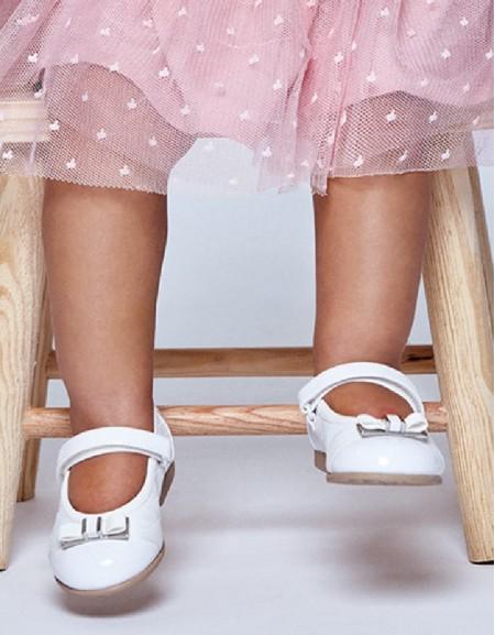 White Basic Ballet Flats
