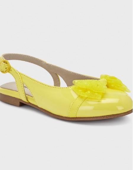 Yellow Bailarina Flats Shoes