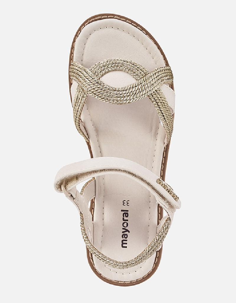 Champagne Braided Sandals