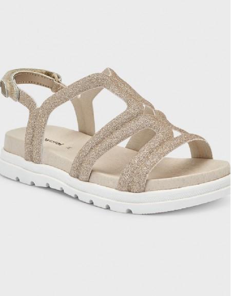 Champagne Glittery Sandals