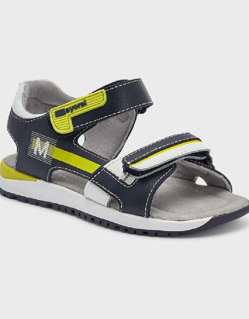 Lime Velcro Sandals