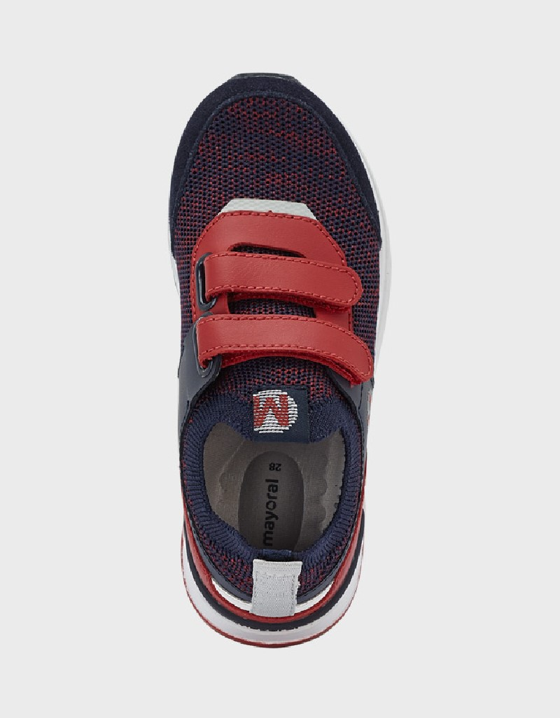 Navy-Red Running Tricot