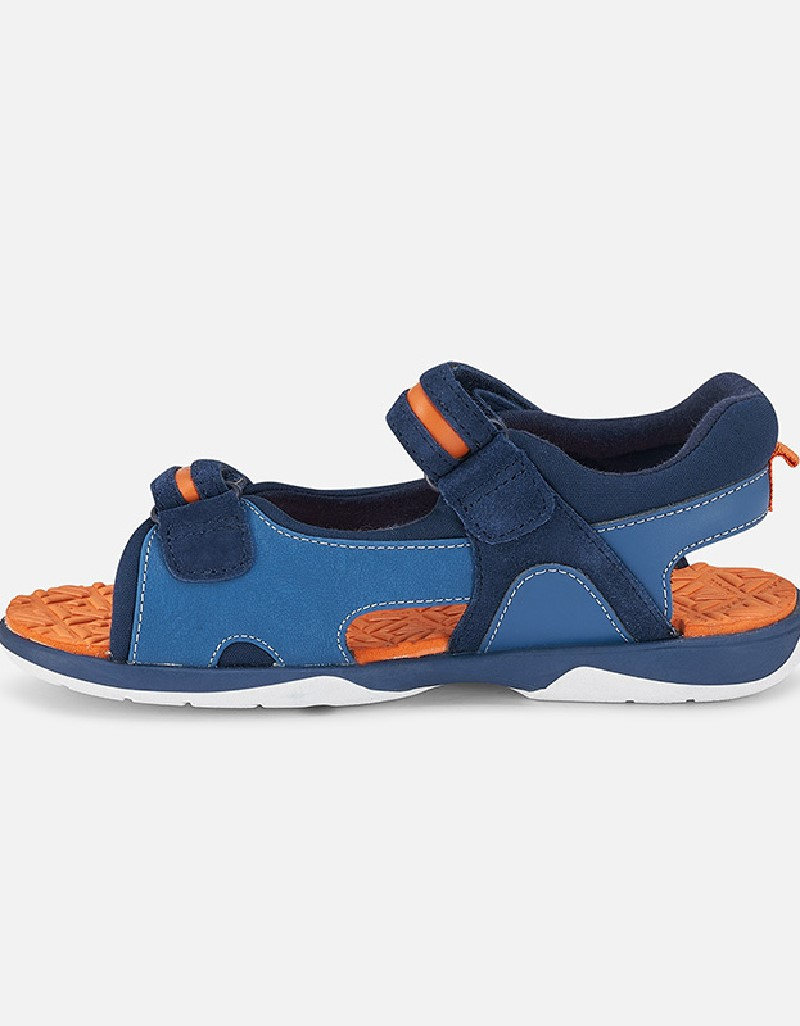 Blue Combined Sandals