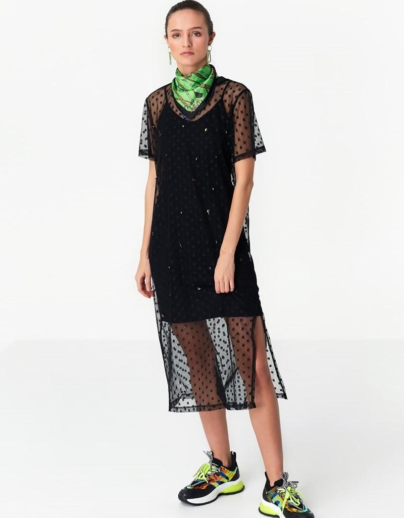 Black Double Piece Dress