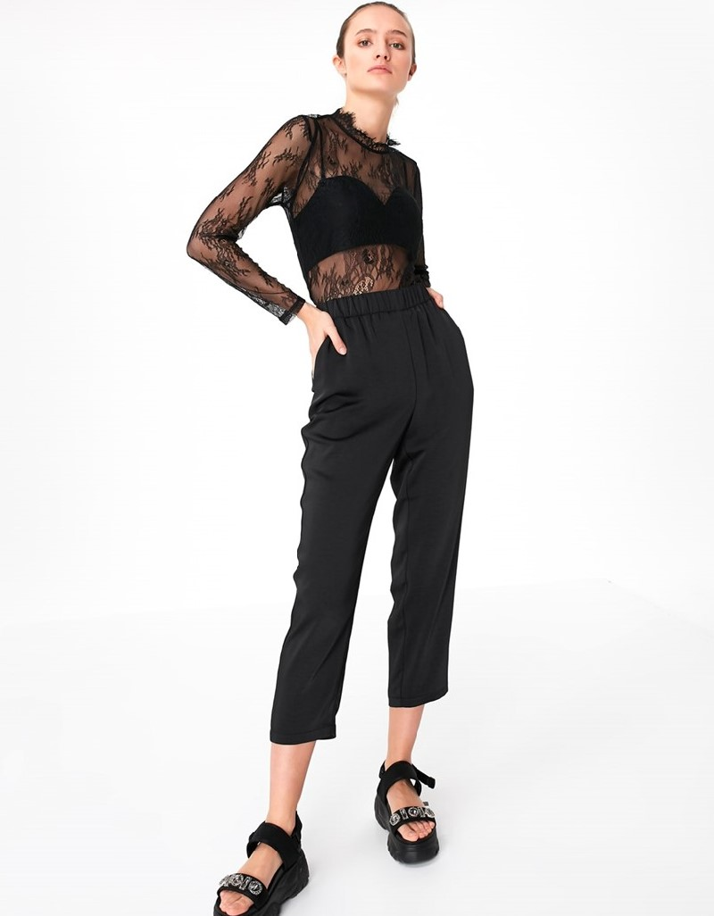 Black Relax Cut Pants