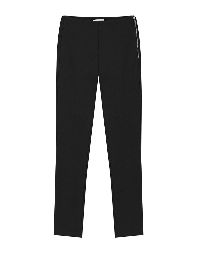 Black Pants With Zipper