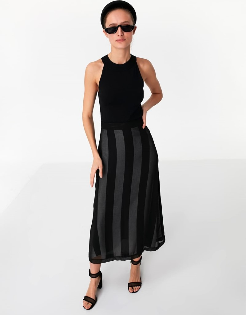 Black Double Layer Skirt