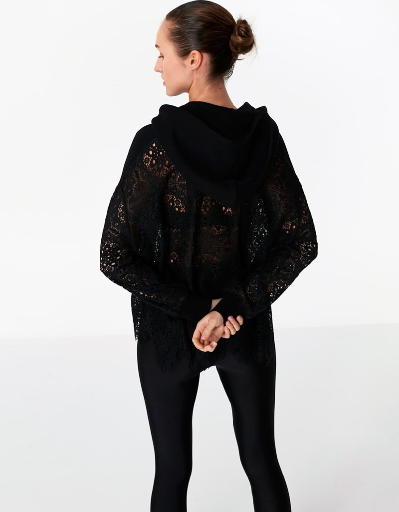 Black Lace Mix Jacket