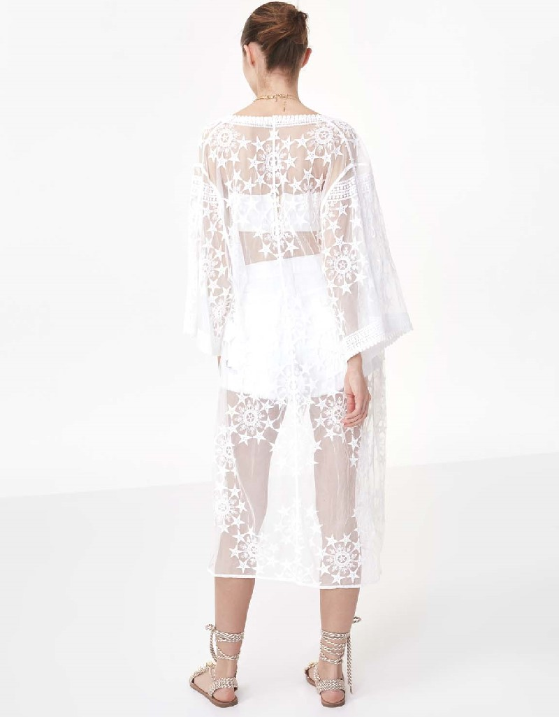 White Star embroidery long jacket