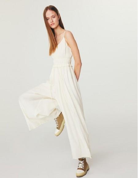 Cream Wide-Leg Jumpsuit
