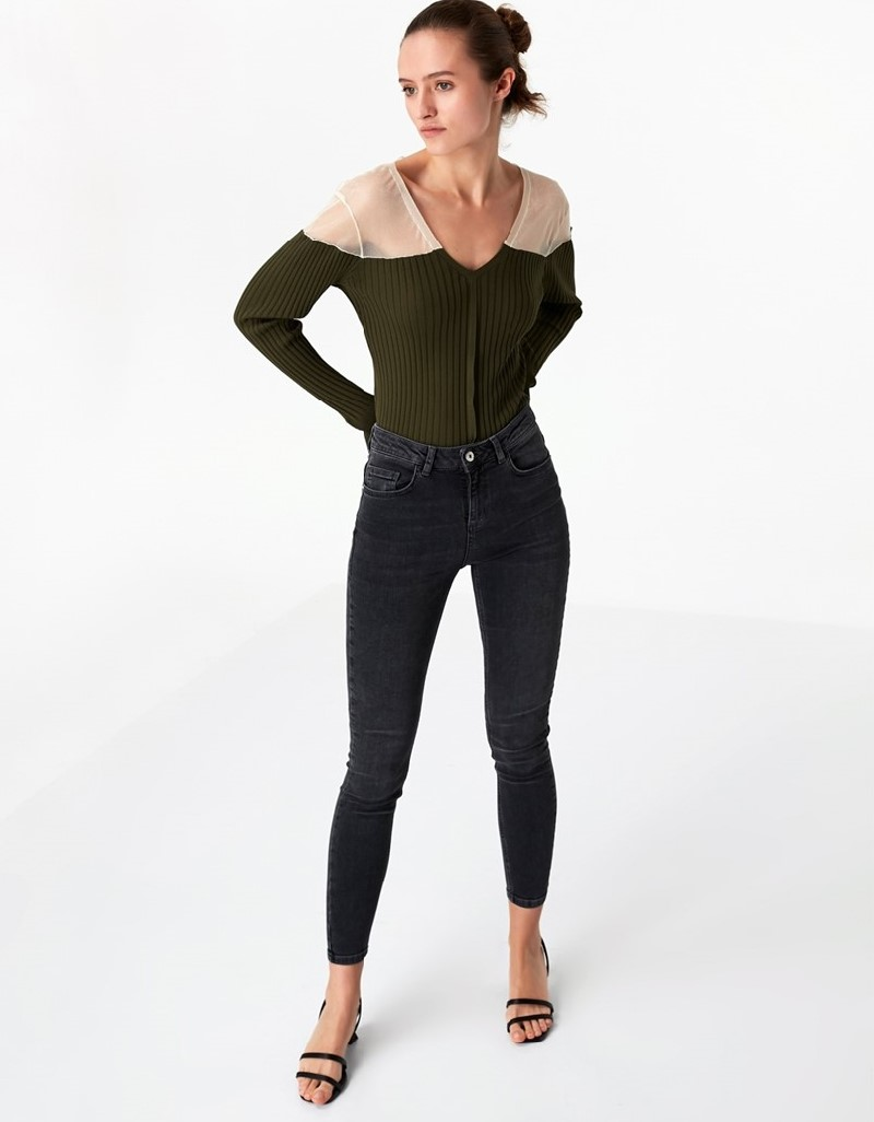 Anthracite Skinny Fit Jeans