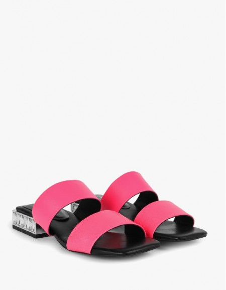 Pink Double Strap Slippers