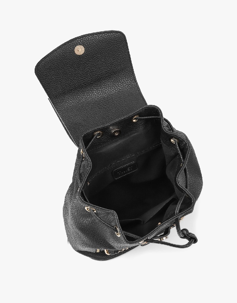 Black Chain Knitted Detailed Backpack