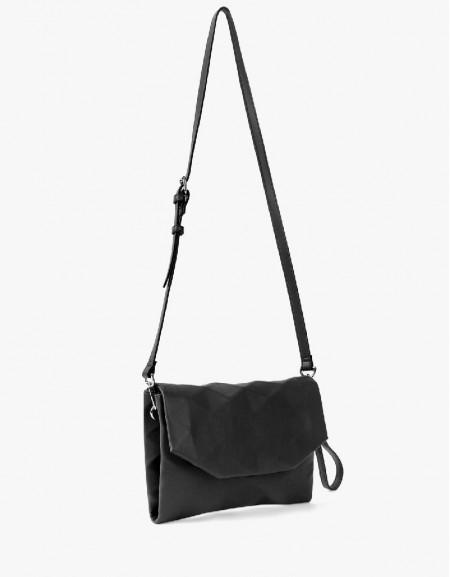 Black Geometric Form Shoulder Bag