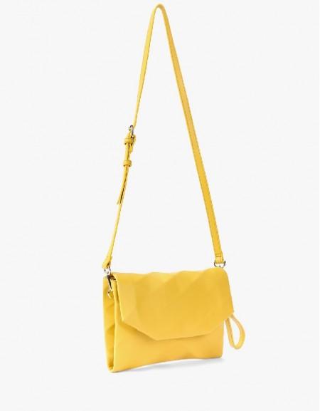 Yellow Geometric Form Shoulder Bag