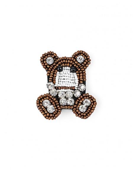 Brown Teddy Bear Form Brooch