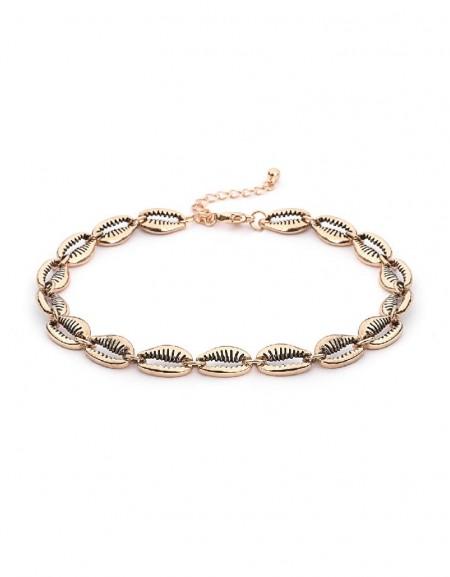 Gold Seashell Form Anklet
