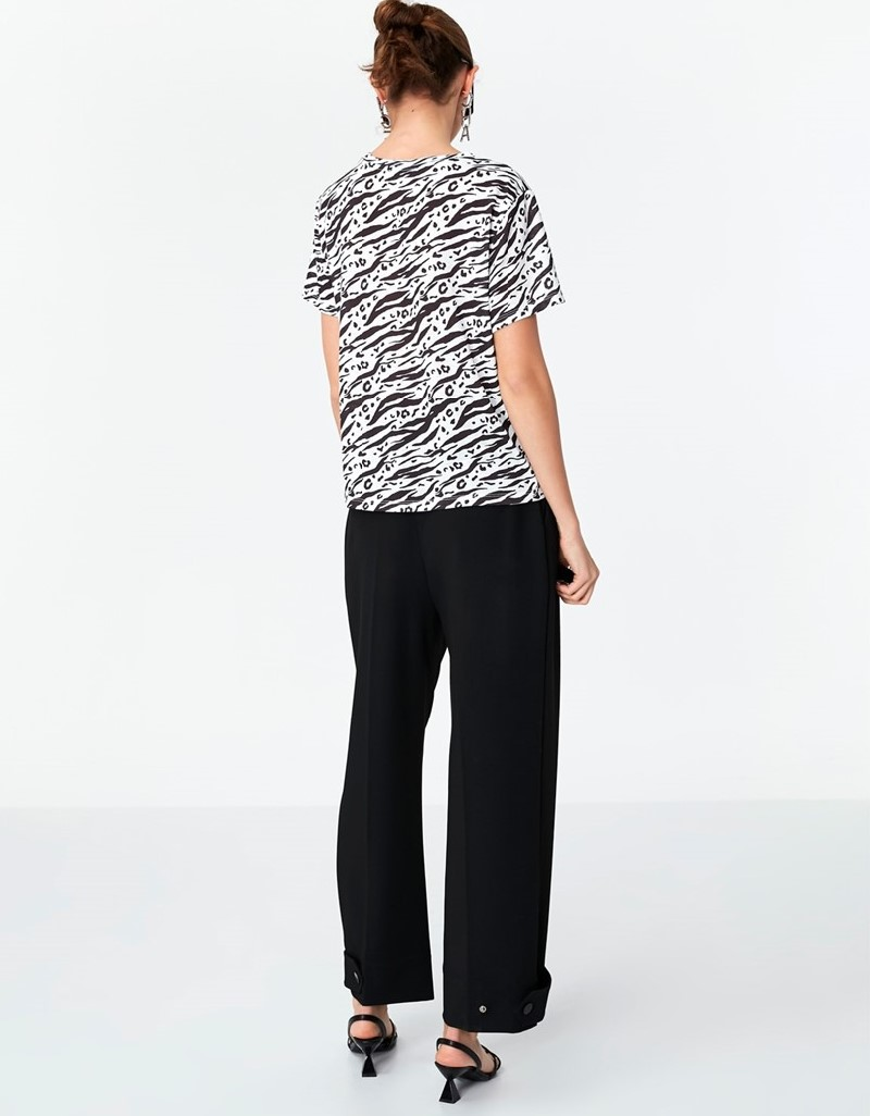 Black Patterned T-Shirt