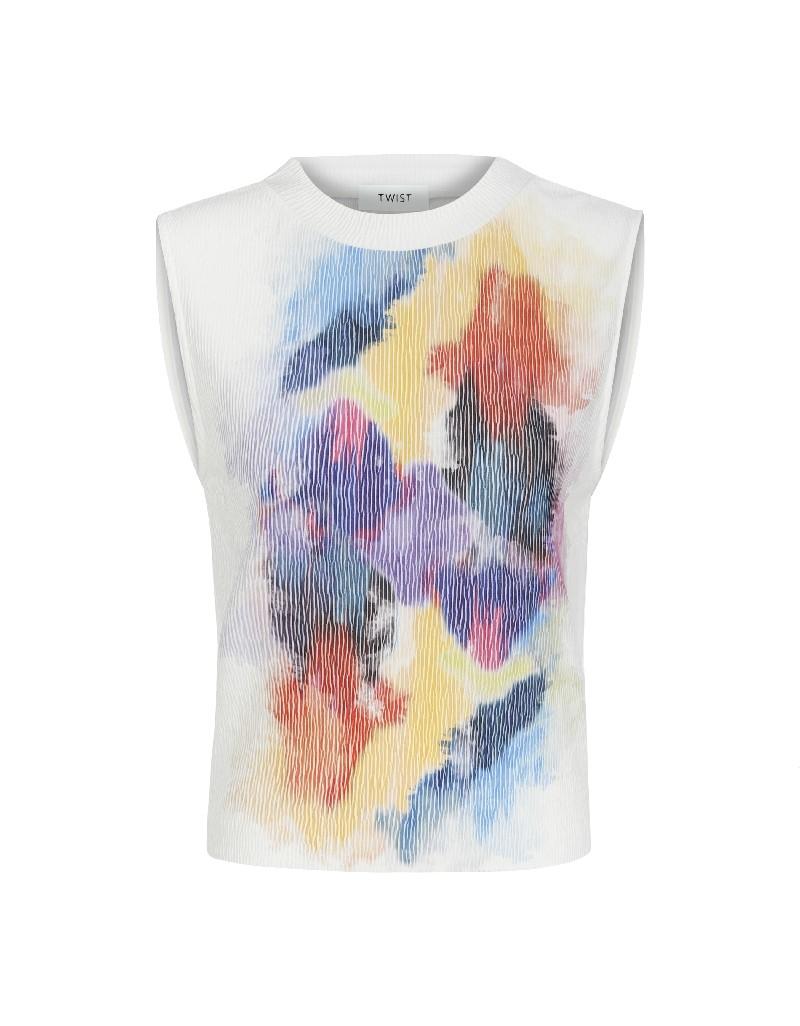 White Printed detailed t-shirt