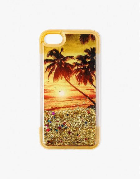 Yellow Sequin Detailed Phone Cover