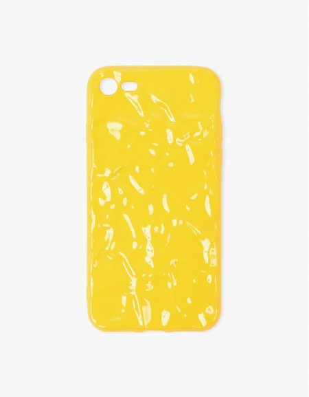 Yellow Marble Printed Phone Cover