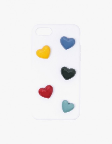 Rainbow Heart Figure Mix Phone Cover