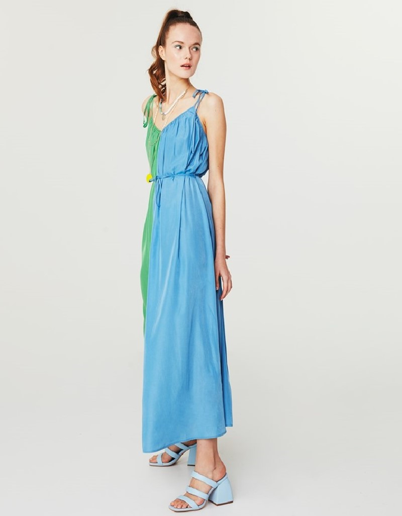 Green Colorblock Dress