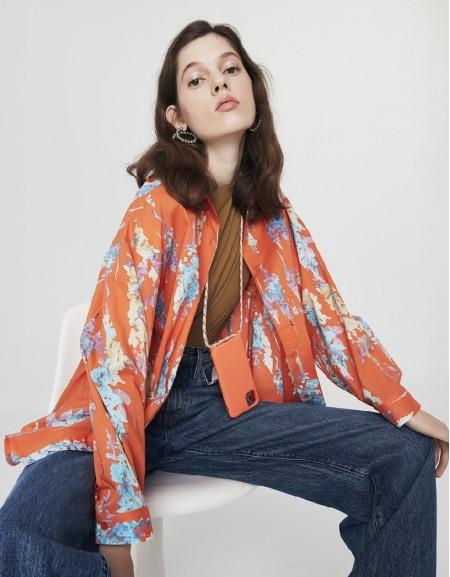 Orange Neon Print Shirt