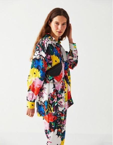 Ecru Printed Longsleeve Shirt
