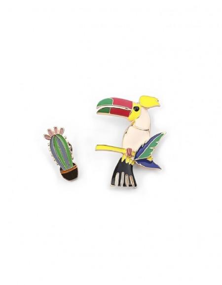 Rainbow Papagan Figure Brooch