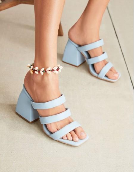 Blue Shell Tassel Anklet