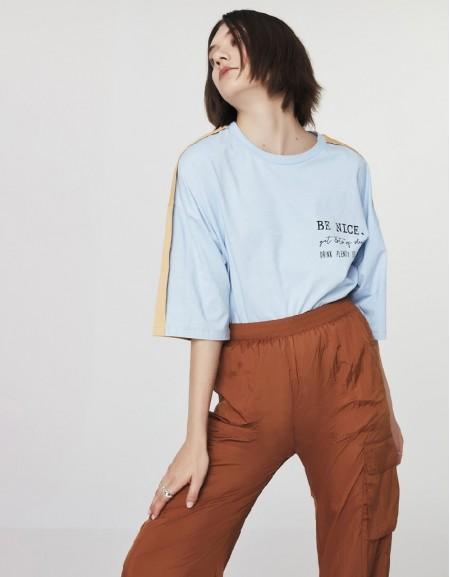 Blue Colorblock T-Shirt
