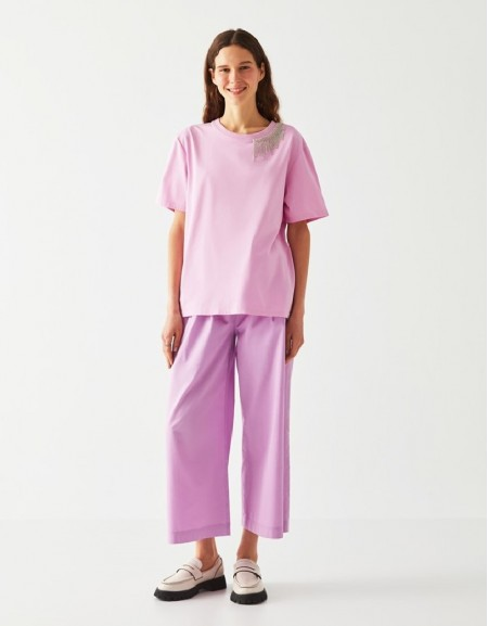 Lilac Blouse With Stones