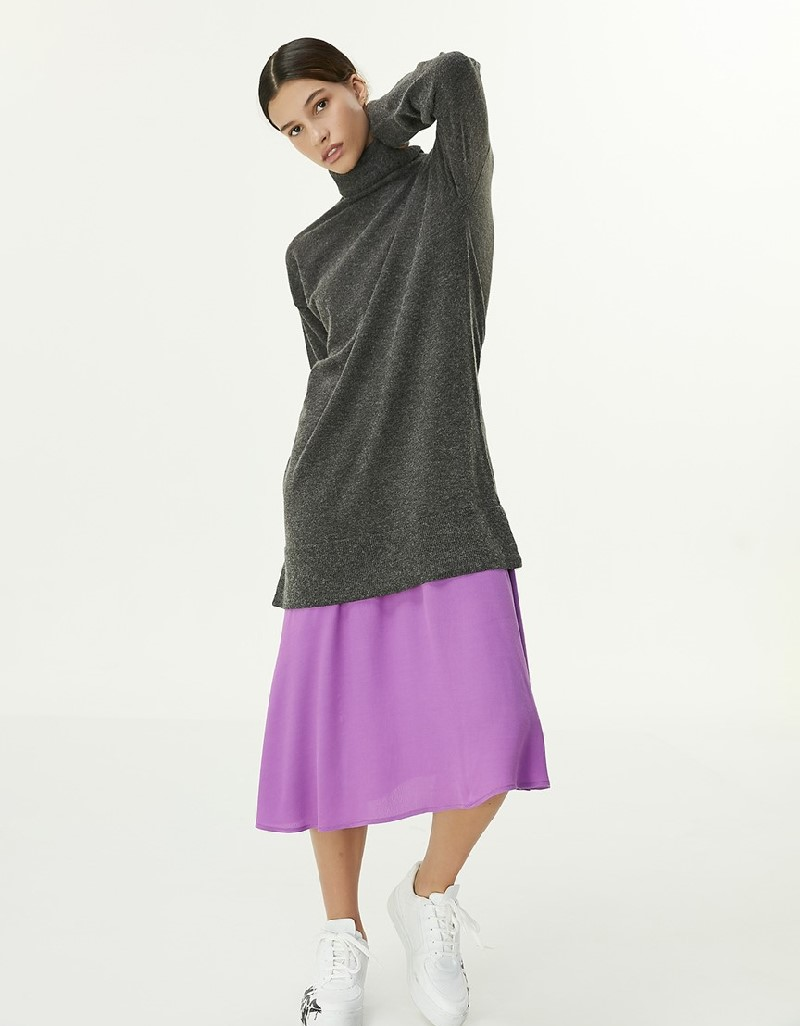Anthracite Color Transition Dress