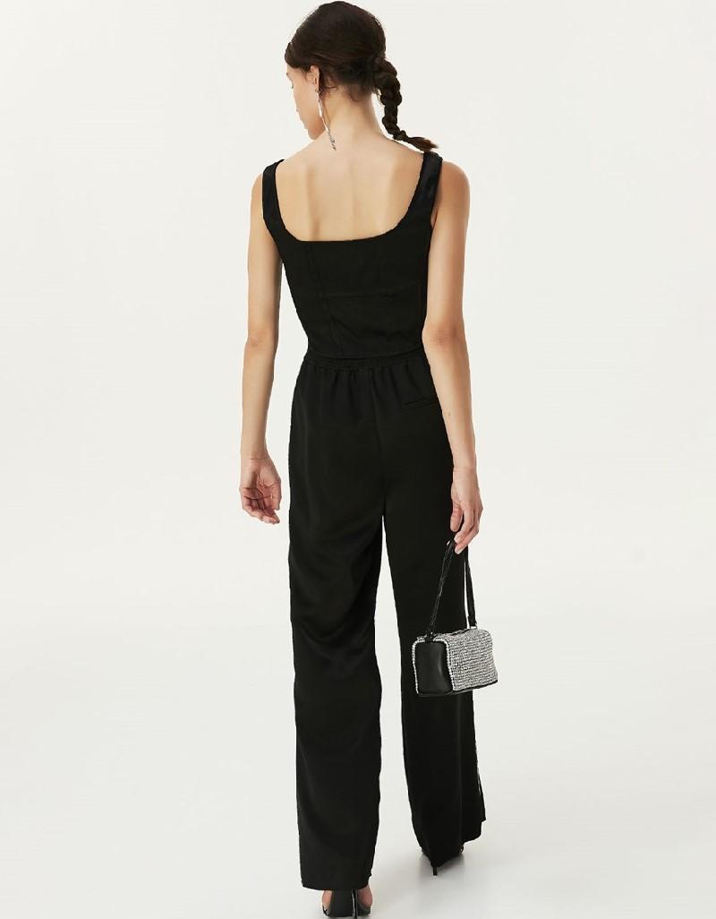 Black Elastic Waist Trousers