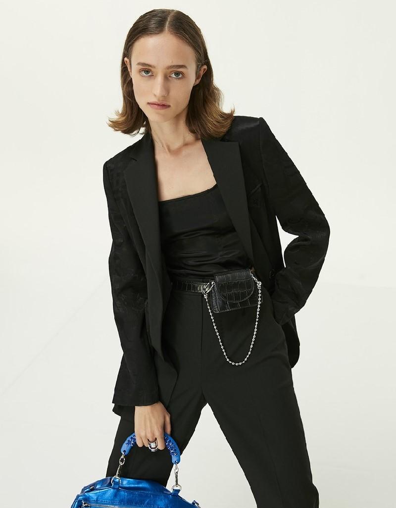 Black Double-Leg Trousers