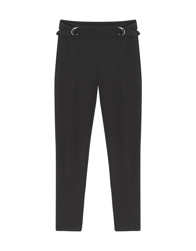 Black Adjustable Waist Pants