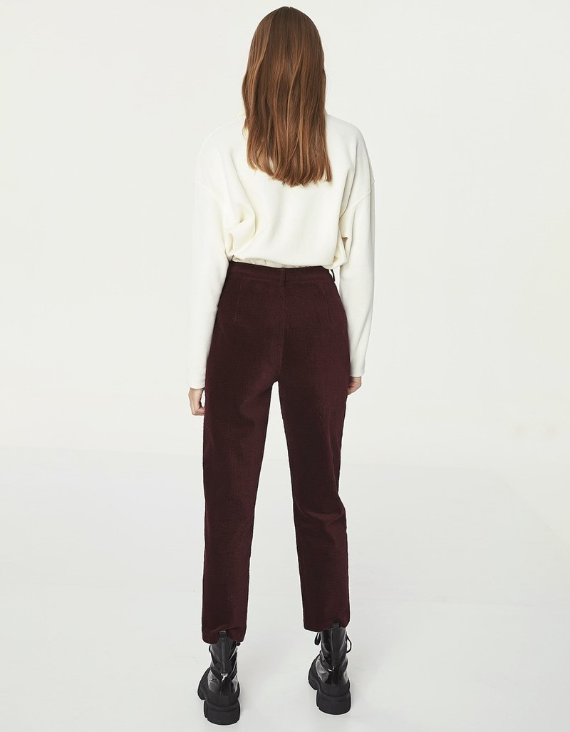 Bordeaux Pleated Pants