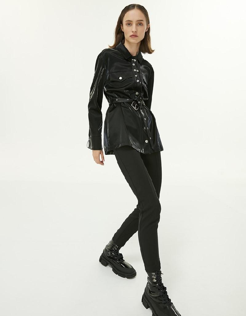 Black Zipper Closure Pants